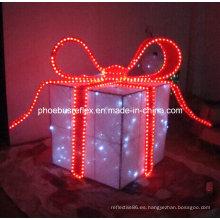 Navidad caja de regalo, caja de regalo reflexivo