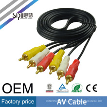 Precio de fábrica de SIPU 0.38 1.5m al por mayor 3Rca a 3Rca HDTV AV AUX Audio Video Tv Cable