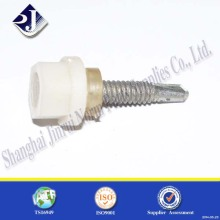 PTFE Plastic hex flange drilling screw