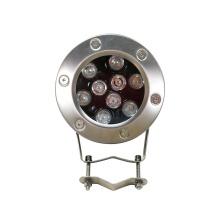 Lâmpada LED subaquática para piscina em aço inoxidável
