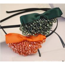 Fashion Jewelry/Fashion Hair Band/Beads Ribbon Headband (XHJ12053)