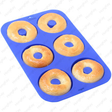 Cake Mold Plate with 6 cup Silicone cupcake Muffins Pan - BPA Free