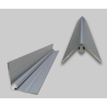 Aluminum trim molding edges