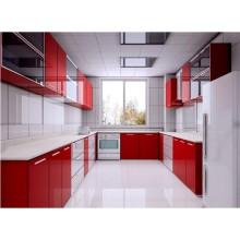 Acrylic MDF Kitchen Furniture (ZH-8605)
