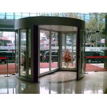 Porta giratória automática de 2 asas