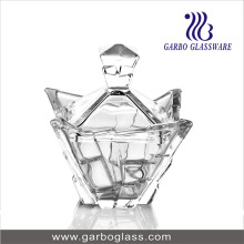 New Design Glass Cand Pot with Cover
