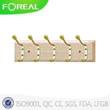 Wooden Towel Hooks with Colorful Beads