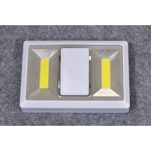 High quality battery 4AAA COB led switch lights