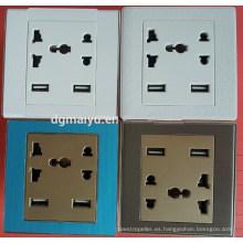 Enchufe de pared universal con cargador USB dual Enchufe de enchufe de los EEUU