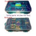 Kit de peças de reparo de máquina de tatuagem de duas camadas