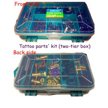 Kit de piezas de reparación de máquina de tatuaje de dos niveles