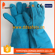 Blue Cow Split Welding Gloves, Ab Grade. Full Palm (DLW621)