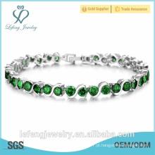 Luxuosa jóia de alta qualidade platina banhado pulseira para as mulheres