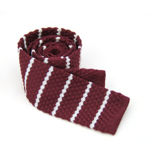 Wholesale Newest Pierced Design Polyester Hand Knitted Tie