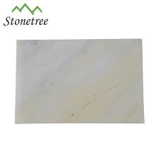 Bandeja de pedra de mármore natural branca do queijo / placa de desbastamento da placa