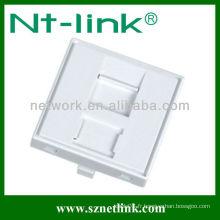 Faceplate, 2 ports, Single Gang, pas d'étiquette intégrée