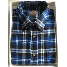 Camisa de tecido de flanela 100% algodão
