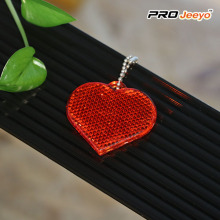 Reflective Hi Vis Safety Love Heart Keychain