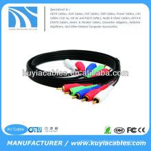 Cable de vídeo de componentes de 15 pies con audio 5 RCA para HDTV DVD VCR