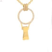 Flutuante charme medalhão para porta-crachá, pingente medalhão fada porta, medalhão opala