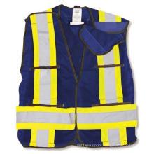 Navy 100% Polyester Soft Mesh Safety Vest
