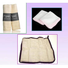Eco-Friendly Facial Musselin Tuch mit zur Reinigung der Haut verwendet
