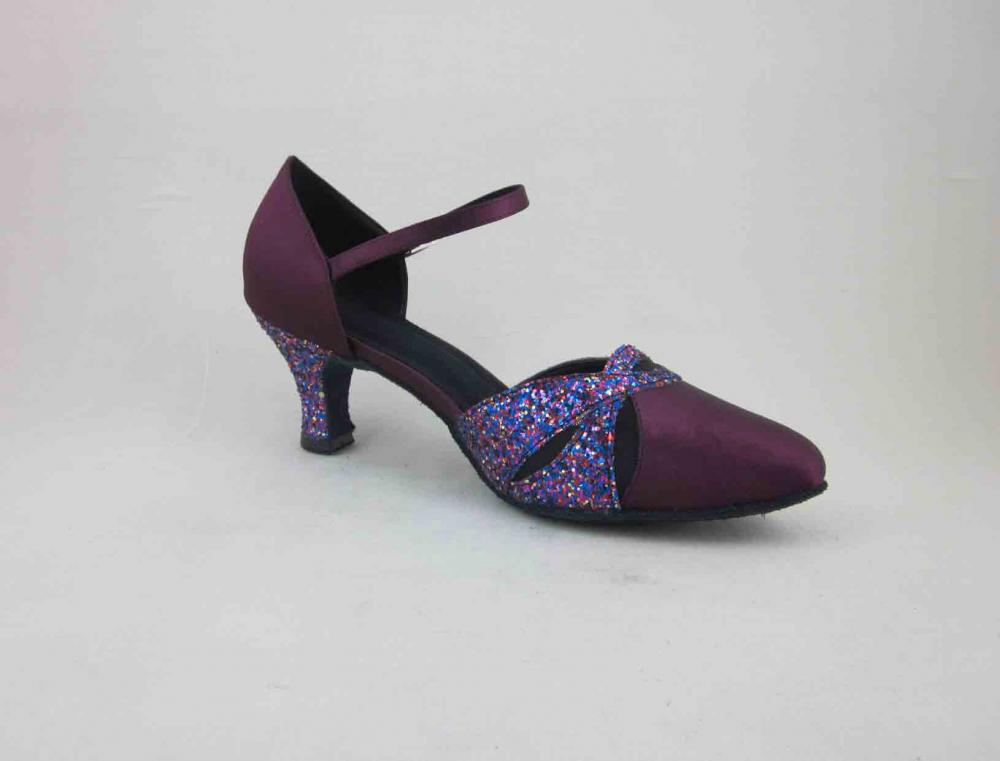 Ladies Purple Ballroom Dance Shoes