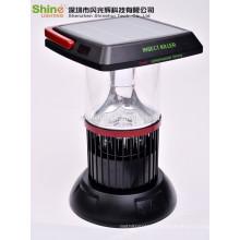 Decorativa estilo mão lâmpada de emergência assassino solar mosquito, solar manivela lâmpada