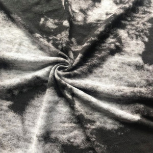 Discharge linen knit print fabric