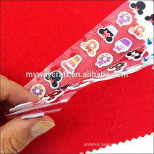 cartoon puffy sticker