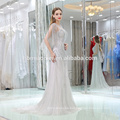 2017 in stock items luxury heavy beaded evening gowns sexy sweetheart collar silver evening dress with small tail