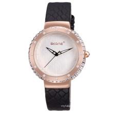 2017 new design fashion girls watch genuine leather watch