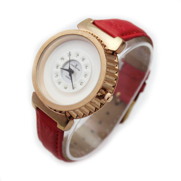Top Fashion Leather Band Wristwatch