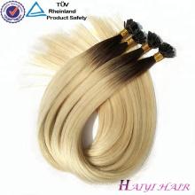 Alibaba Express En Gros Remy Cheveux Humains Pré-collage Extension de Cheveux Plat Astuce Cheveux Produits