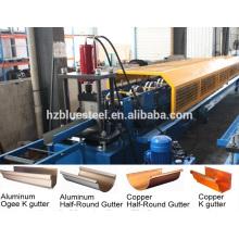 Machine à fabriquer des gouttières en aluminium en métal et en aluminium, Machine en étain galvanisée, machine à former des rouleaux à calandre