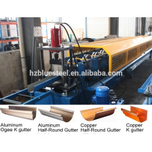 Máquina de fabricação de calhas de alumínio e de alumínio metálico, Máquina de fabricação de calhas de caixa de aço galvanizado, Máquina de formação de rolo de calha portátil