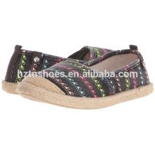 Atacado China Espadrille sapatos mulheres lona plana de sapatos casuais