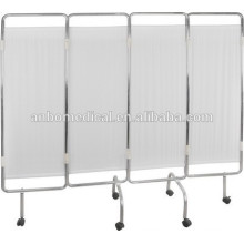 Stainless steel Solid Hospital / Medical Ward Screen / four floding moving hospital curtain