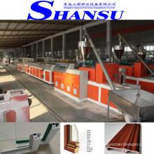 Máquina da extrusora do perfil da janela da porta do PVC de SHANSU, projeto da produção das portas do perfil