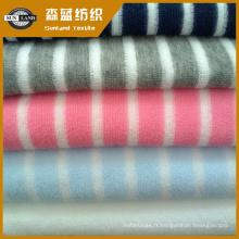 tissu éponge teint en fil de polyester pour le vêtement et le linge de maison