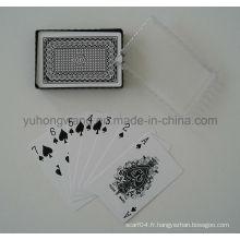 Carte de jeu de cartes de jeu, jeu de société avec boîte en PVC