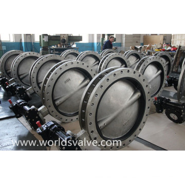 Ss316L U Type Double Flanged Butterfly Valve