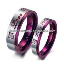 Großhandel Edelstahl Ring Zirkon Stein Ringe für Mode Schmuck mit hoher Qualität von Shenzhen Runda Company