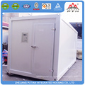 Low cost commercial refrigerator and freezer container home