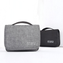 Solid color black toiletry bag hanging toiletry bag travelling toiletry bag for women