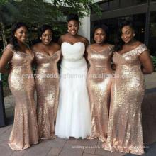 Real Pictures Longue Robe de soirée 2017 Vestido Madrinha Casamento Robe de mariée en mousseline de soie à manches courtes MB925