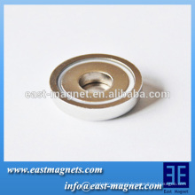 D47*10 mm strong force Neodymium pot magnet for sale/ndfeb magnet pot and hook selectable for using