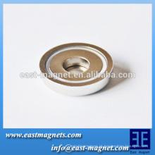 D47 * Força forte de 10 mm imã de pote de neodímio para venda / pote ímã ndfeb e gancho selecionável para usar