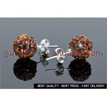 shamballa ball stud earrings