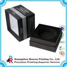 Роскошный черный матовый Коробка вахты Упаковывая с подносом